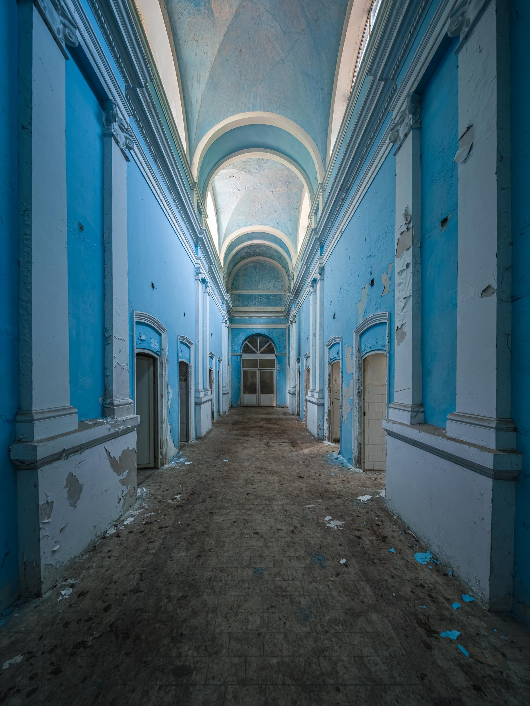 The blue corridor.