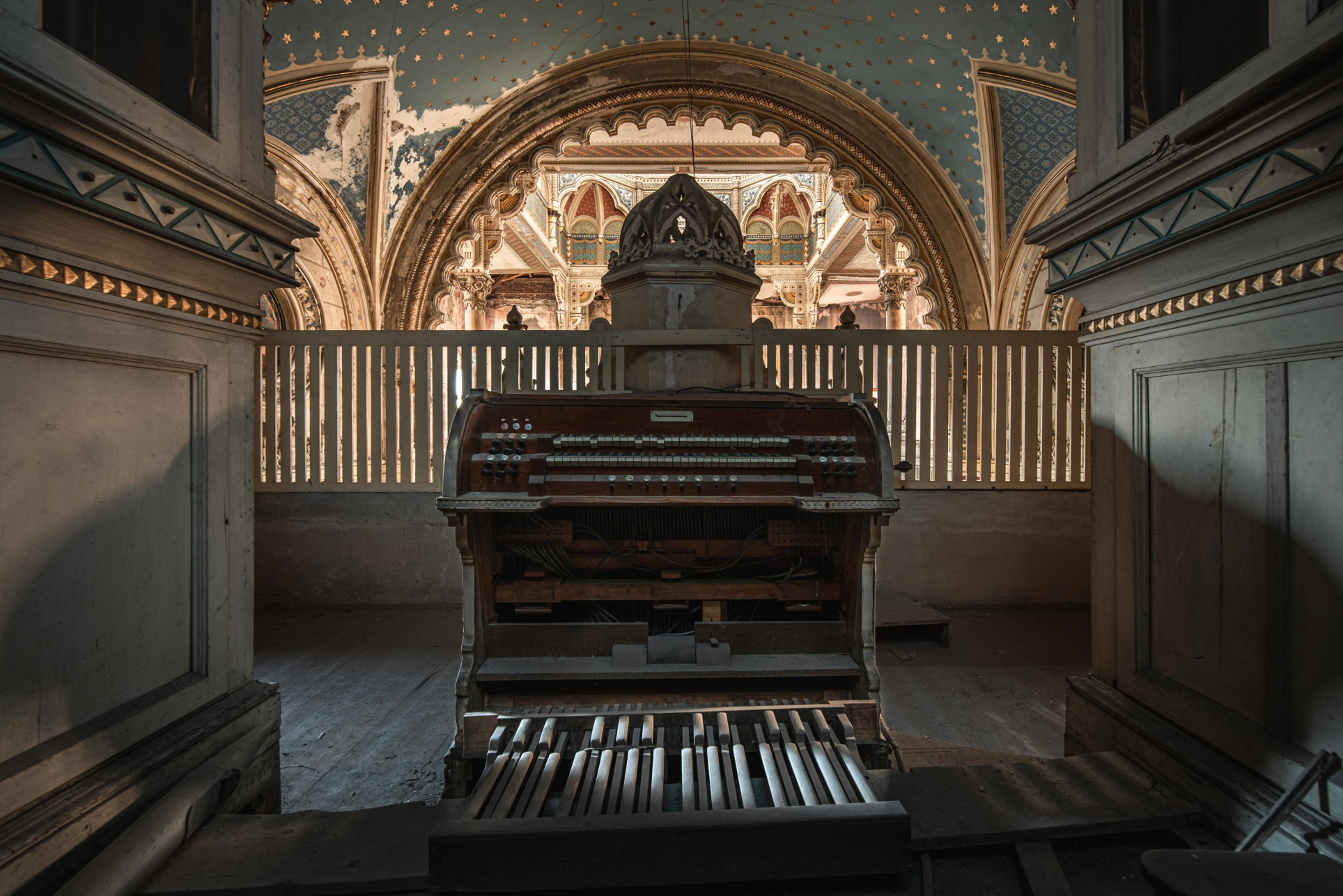 The organ was built around 1900 by a German expert.
